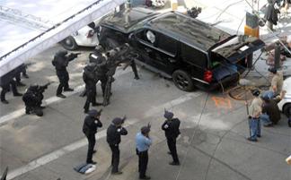 Ник Фьюри убегал от полиции и спецназа - Видео