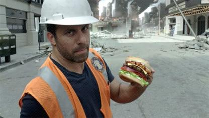 Реклама; Бургеры и Супермен