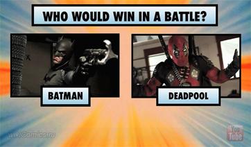 Кто выиграет схватку Batman или Deadpool?!
