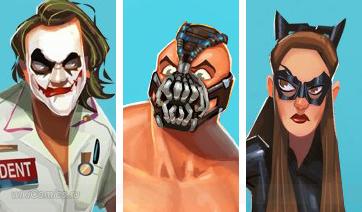 ФАН АРТ: Человек из стали, Человек-паук, Бэтмен и...