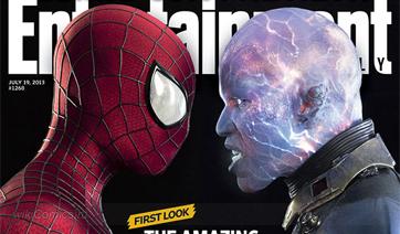 Обложка журнала с Человеком-Пауком и Электро + Фото Гарри Осборна