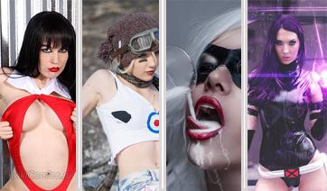 Девушки в костюмах супергероев