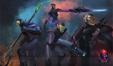 Концепт-Арт Скруллов из Мстителей - Отмененная видеоигра