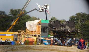 Трансформеры 4, видео со съёмак - космический корабль
