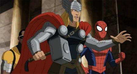 Тор показан в мультсериале мстители