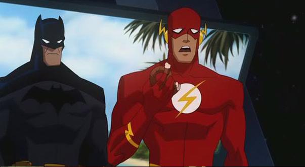 Флэш появляется в Лига Справедливости: Кризис двух миров