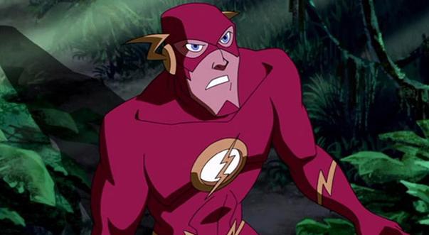 Флэш появляется в Лига Справедливости: В ловушке времени