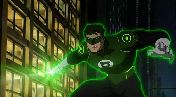 Зелёный Фонарь появляется в Лига Справедливости: Война