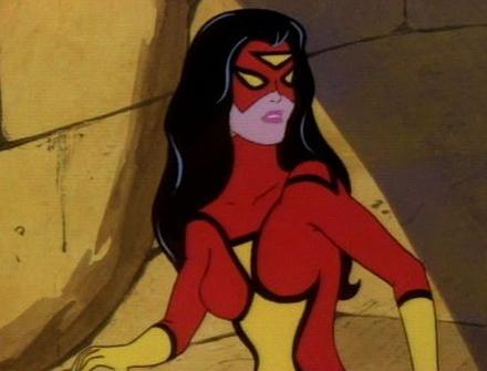 Женщина-паук (Джессика Дрю) в мультфильме Женщина-паук