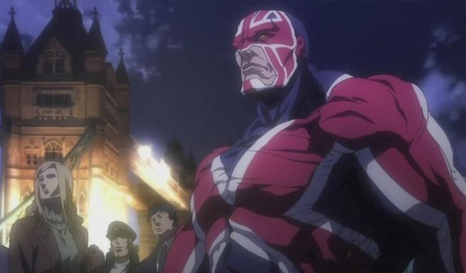 Капитан Британия в мультсерале Люди Икс: Аниме