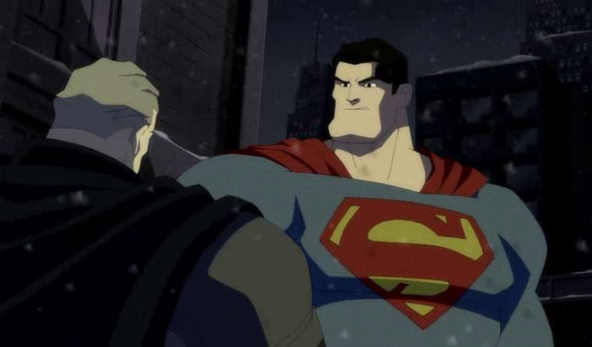 Супермен появляется в Бэтмен: Возвращение Тёмного рыцаря. Часть 2