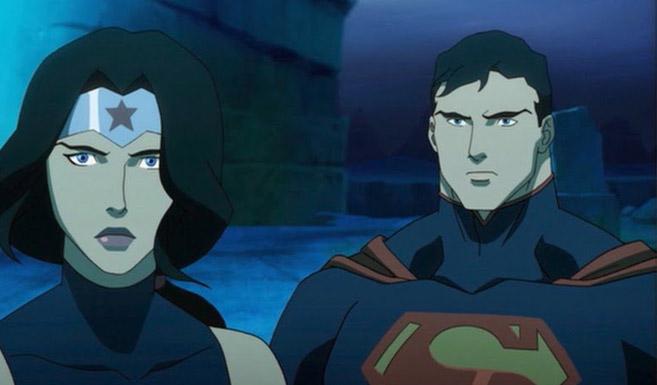 Супермен появляется в Лига Справедливости: Трон Атлантиды