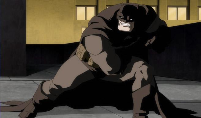 Бэтмен появляется в Темный рыцарь Возрождение легенды Часть 2