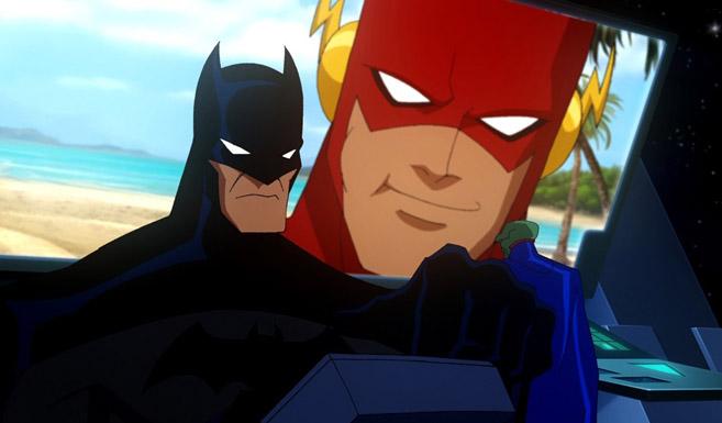 Бэтмен в Лига Справедливости Кризис двух миров