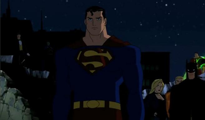 Супермен появляется в мультсериале Юная Лига Справедливости