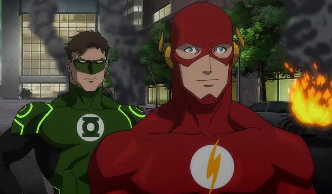Флэш появляется в Лига Справедливости: Война