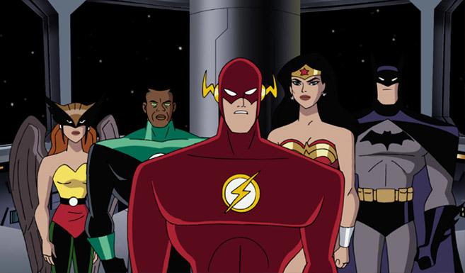 Флэш появляется в Лига Справедливости