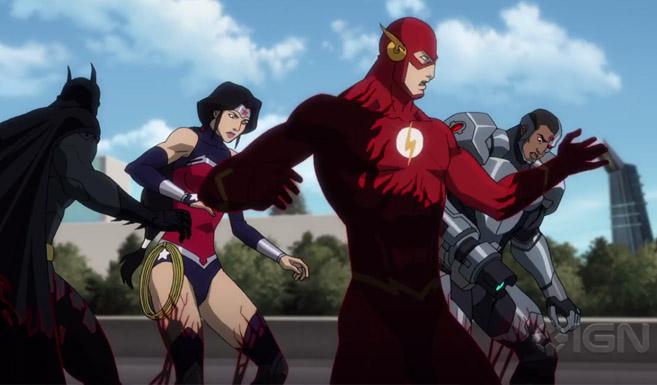 Флэш (Барри Аллен) появляется в Лига Справедливости против Юных Титанов