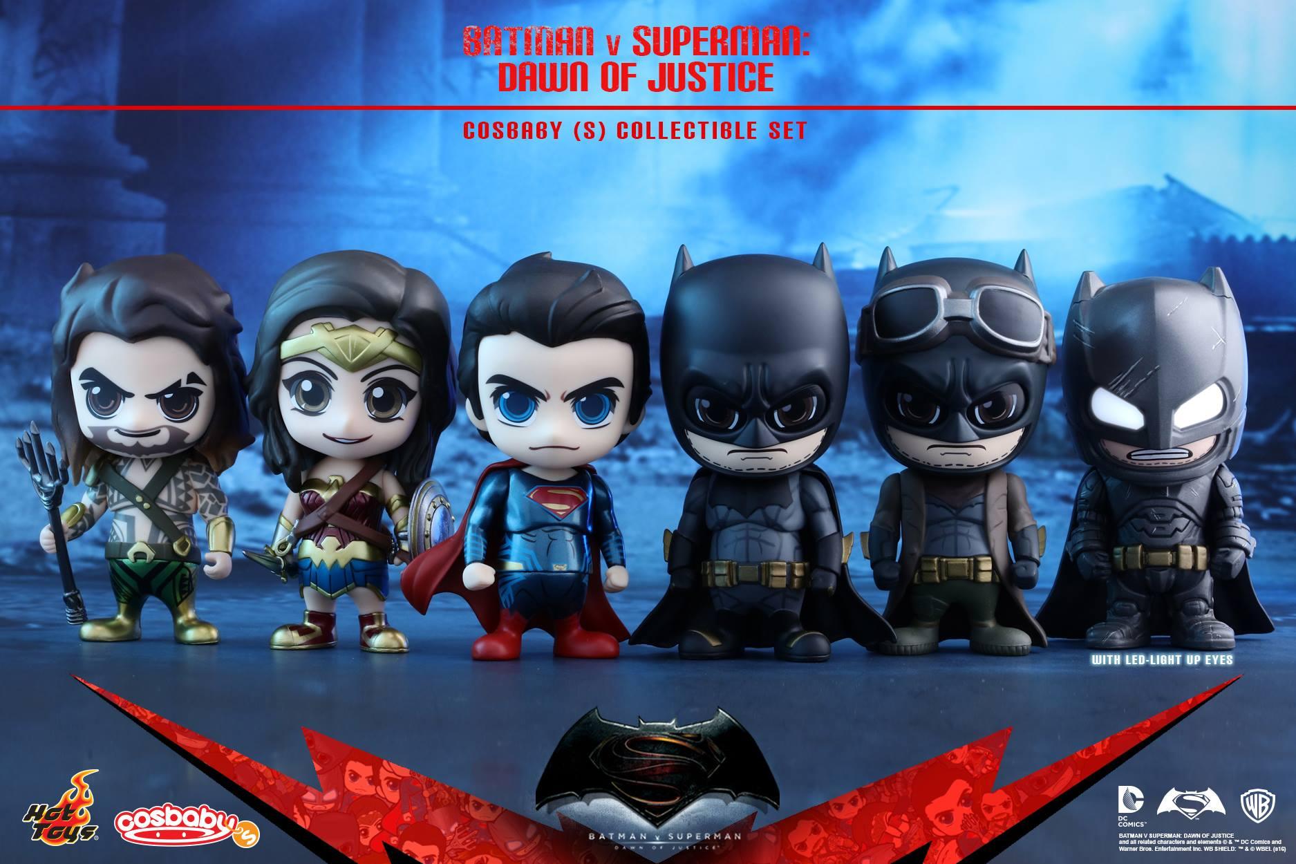 Игрушки к фильму Бэтмен против Супермена от Hot Toys