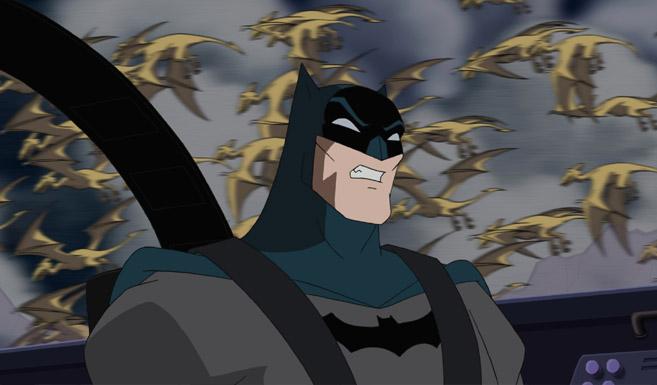 Бэтмен появляется в Лига Справедливости - Новый барьер