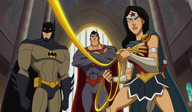 Бэтмен появляется в Лига Справедливости - В ловушке времени