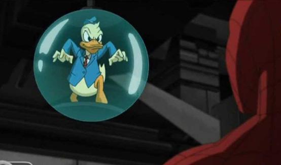 Утка Говард в мультсериале Совершенный Человек-паук