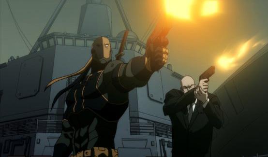 Дефстроук появляется в Лига Справедливости - Парадокс источника конфликта