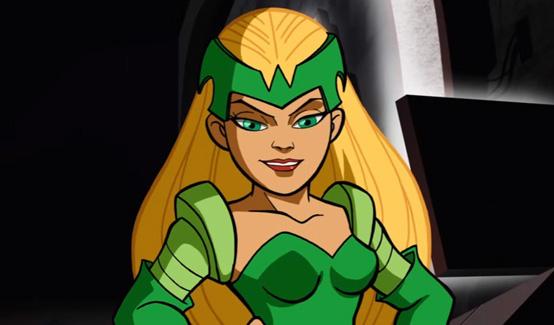 Чаровница в мультсериале Отряд супергероев