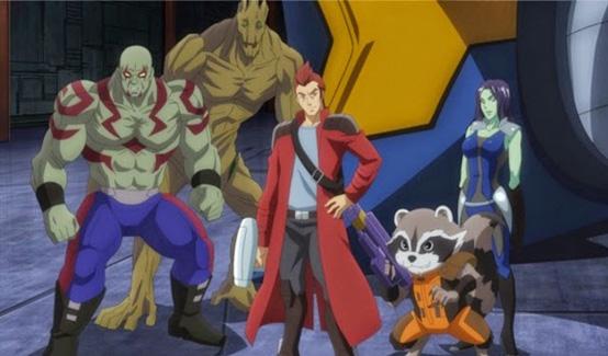 Стражи Галактики в мультсериале Мстители: Дисковые войны