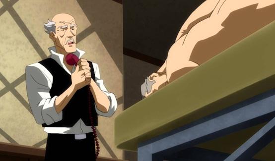 Альфред появляется в двух частях мультфильма Темный рыцарь: Возрождение легенды