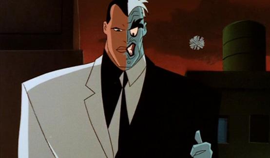 Двуликий появляется в мультсериале Бэтмен