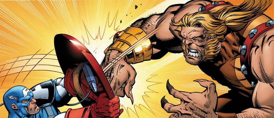 Саблезубый против Капитана Америки