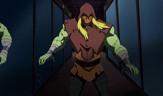 Пугало появляется в Безграничный Бэтмен: Хаос