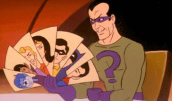 Загадочник в мультсериале Вызов Супер-друзей