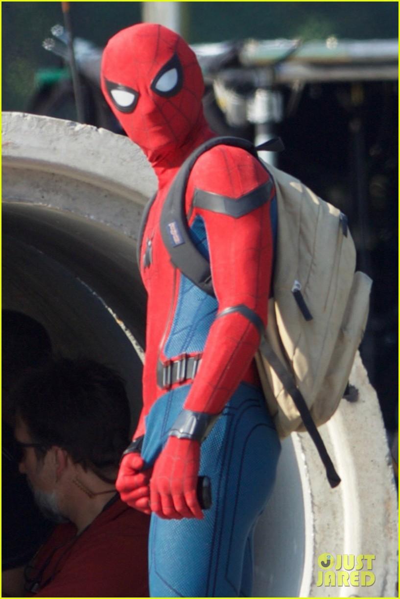 со съемок человек паук