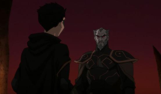Ра'с аль Гул появляется в Лига Справедливости против Юных Титанов