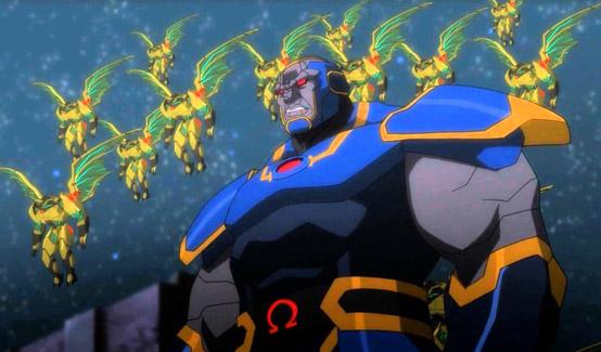 Дарксайд появляется в Лига Справедливости: Война