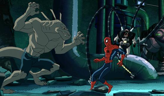 Ящер в мультсериале Современный Человек-Паук
