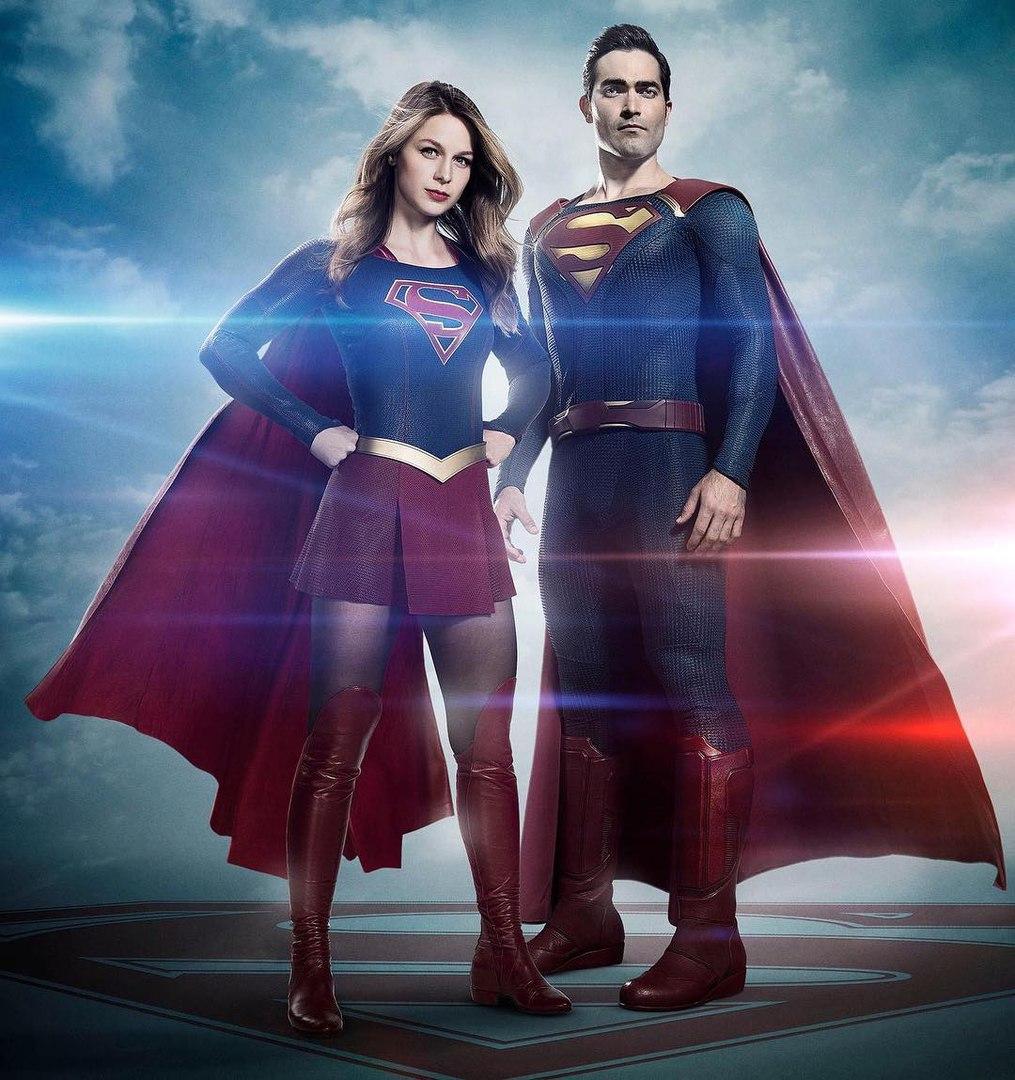 Супергёрл и Супермен из 2-го сезона сериала Супергёрл