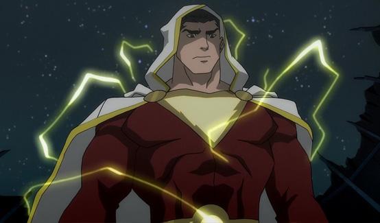 Шазам появляется в Лига Справедливости: Война