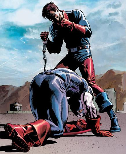 Баки против Капитана Америки