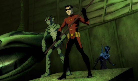 Робин (Дик Грейсон) в мультсериале Юная Лига Справедливости