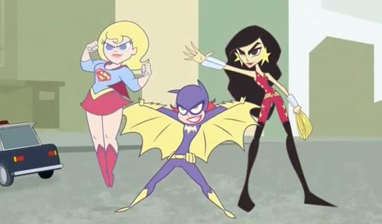 Бэтгёрл в мультсериале Супер Лучшие Подруги Навеки