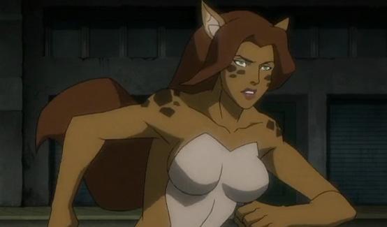 Гепарда появляется в Лига Справедливости против Юных Титанов