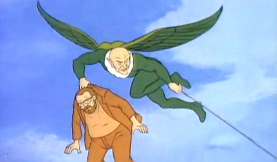 Стервятник появляется в Человек Паук (1981 год)