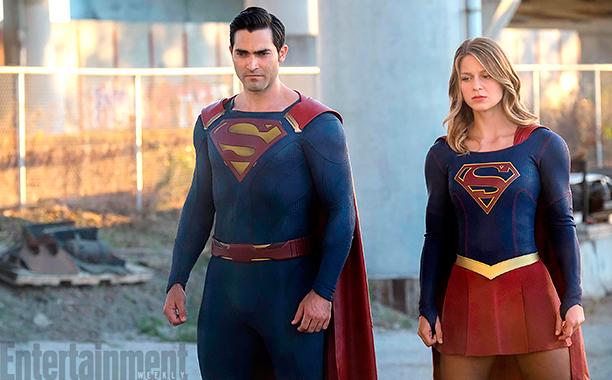 Супермен и Супергёрл в сериале, Супергёрл