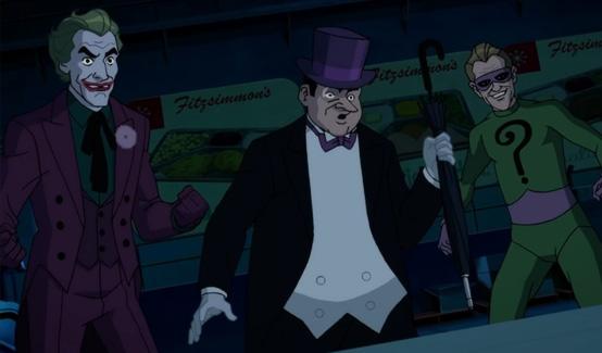 Загадочник появляется в Batman: Return of the Caped Crusaders