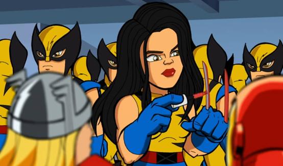 Икс-23 в мультсериале Отряд Супергероев