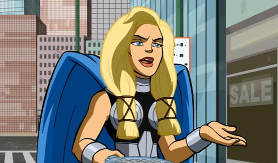 Валькирия в мультсериале Отряд супергероев