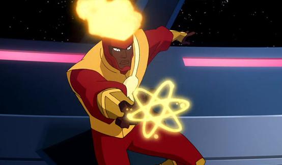 Огненный Шторм (Джейсон Руш) появляется в Лига Справедливости: Кризис двух миров